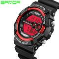 SANDA  2016 luminous electronic waterproof watch outdoor sports watch diving hiking nine shock Mens Watch relogio feminino