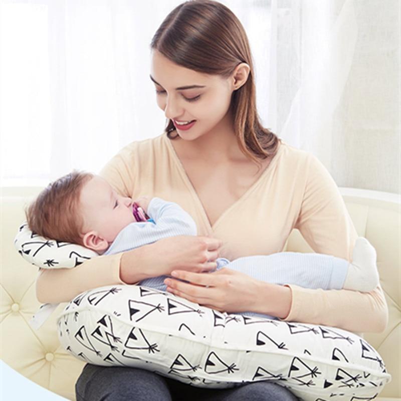 May Baby #5001 2Pcs Newborn Breastfeeding Pregnancy Maternity Pillow Baby Mom Nursing Support Cuddle baby room Drop Shopping цена