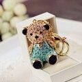 Высокое качество большой хрустальный груша брелок очарование кольцо для ключей женщины сумочку на молнии для любовника подарка ювелирные изделия