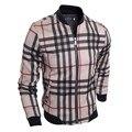 Men's Jacket Autumn&Winter Overcoat Blusas De Frio Masculina Casacos Masculino Plaid Coat Jackets Slim Fit Men Jacket Coat