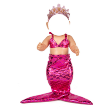 Reborn baby Doll clothes for 18 inch doll Mermaid fish tail dress 18″ girl doll Mermaid biniki skirt