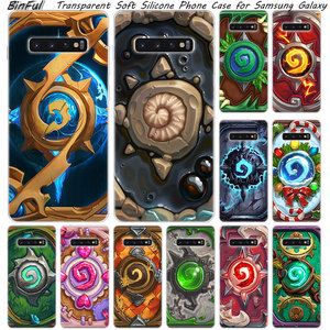 Hot Hearthstone Heroes of Warcraft Silicone Case For Samsung Galaxy S10 S9 S8 Plus S7 Edge A6 A8 Plus A7 A9 2018 A5 2017 Cover(China)