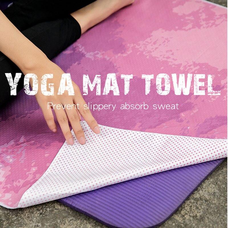 72 pouces Tapis de serviette de Yoga Fitness entraînement antidérapant Gym plage couvre-lit Tapis cravate colorant couverture Pilates Sports exercice Tapis