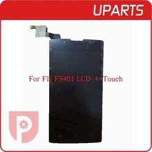 For Fly FS401 LCD Display + Touch Screen Assembly LCD Digitizer Glass Panel Replacement, Tracking code + Free Shipping