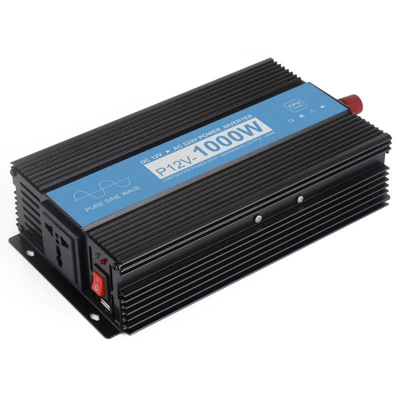 1000W Pure Sine Wave Inverter Home Power Failure Emergency DC 12V To AC 220V Inverter Voltage