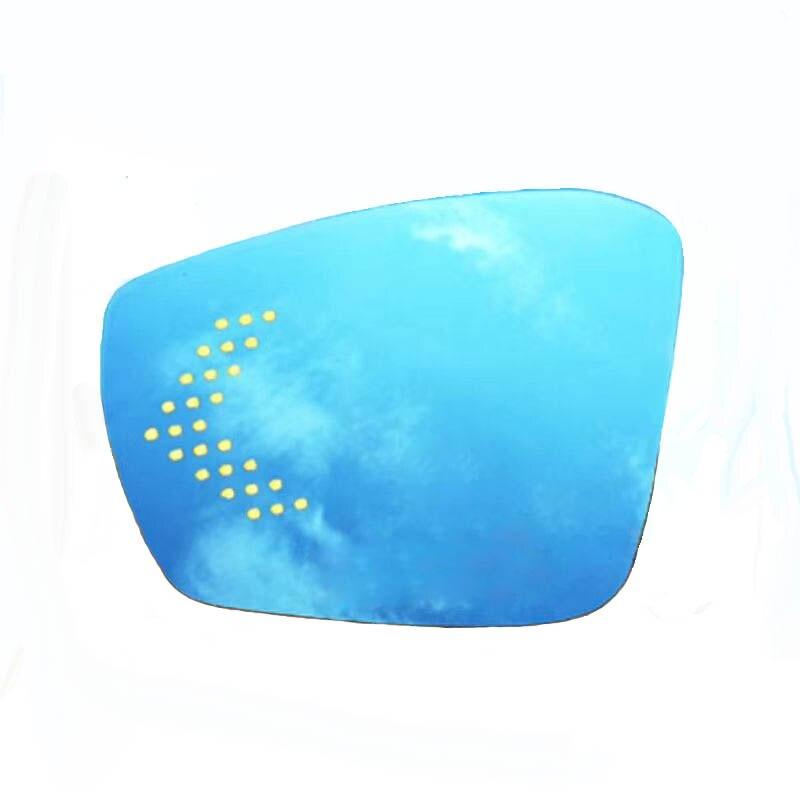 Feu de clignotant de led de preuve d'éblouissement de grand angle bleu chauffé rétroviseur latéral d'aile de vue de voiture pour volkswagen T-ROC