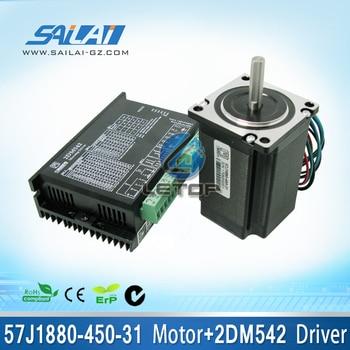 A Set 57J1880-450-31 motor  and 2DM542  stepper motor driver for inkjet printer