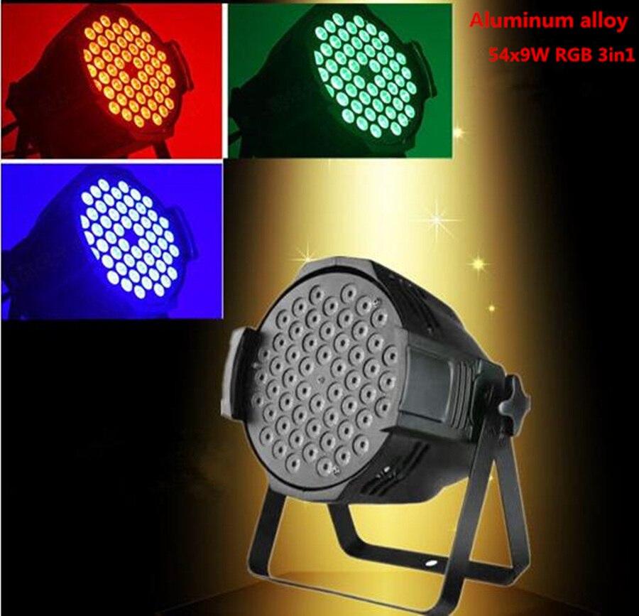 2 pcs/lot LED par lumière 54X6 W RGBW DMX canal DMX 512 moulin à vent motif DJ fête 54x6 w blanc chaud DJ lavage lumière scène