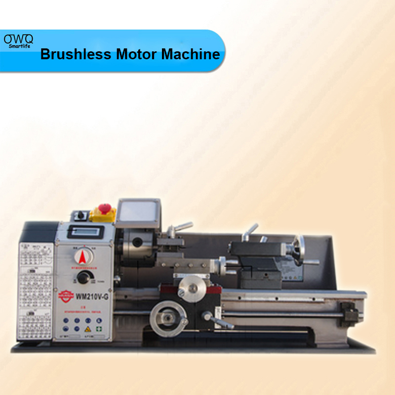 600W Speed High Power Brushless Motor Machine Tool Metal Lathe / All Steel Lathe Machine with Switch Control WM210V-G купить