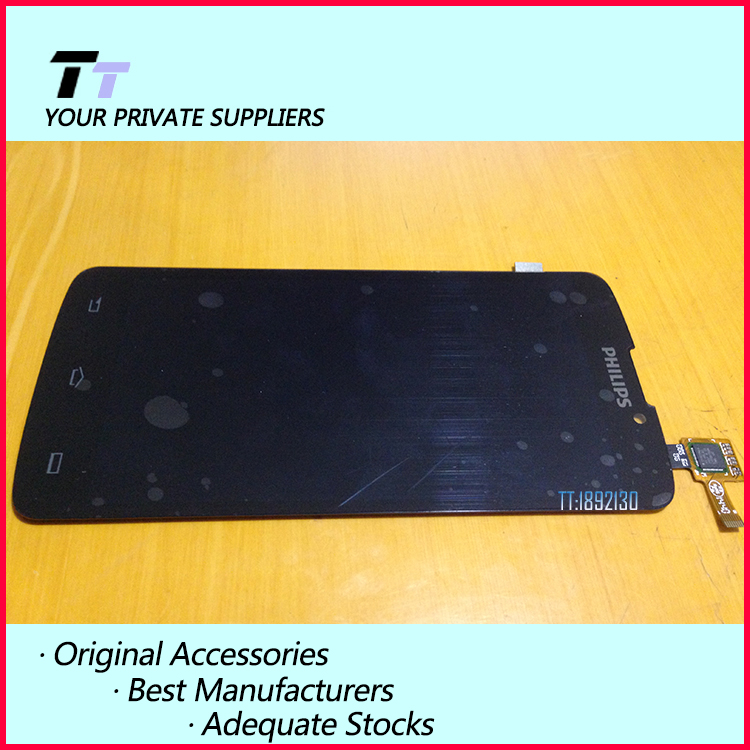 ФОТО Original For Philips v387 LCD display screen+Touch digitizer Replacement for Philips v387 Free Shipping