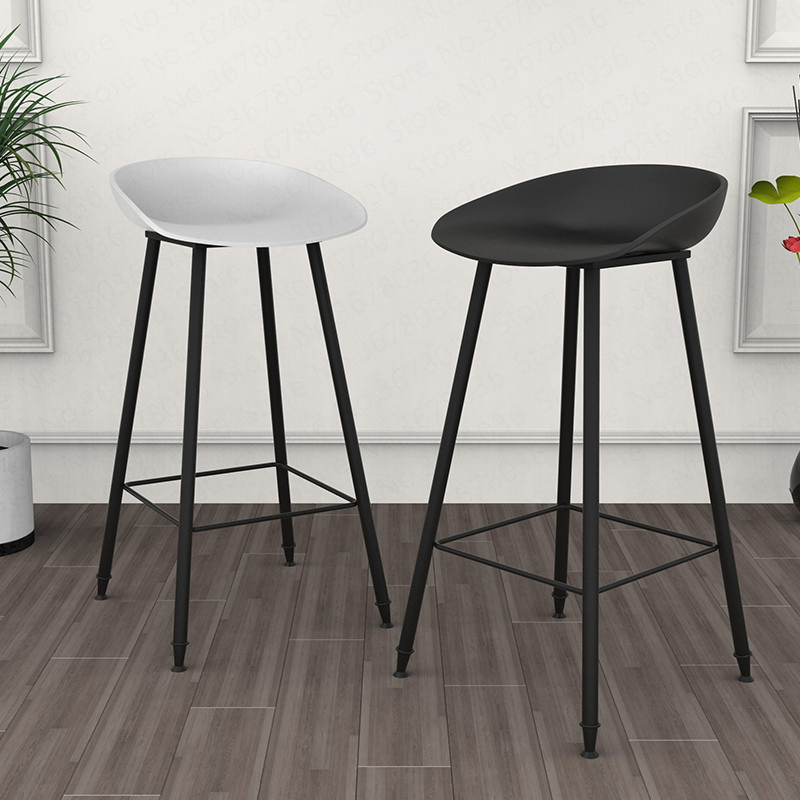 2019 New Nordic Modern Minimalist Bar Stool Home Wrought Iron Stool Creative Bar Chair High Chair Sitting Height 75cm