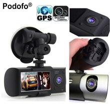 Podofo Dual Camera Car DVR R300 Videoregistrator With GPS Registrator Car Recorder G-Sensor 2.7″ Automobile DVRs Digital Zoom
