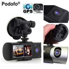 Podofo Dual Camera Car DVR R300 Videoregistrator With GPS Registrator Car Recorder G-Sensor 2.7″ Automobile DVRs Digital Zoom