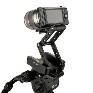 Image 3 - ADAI 360 אלומיניום מתקפל Z להגמיש הטיה פאן ראש חצובה Ballhead שחרור מהיר צלחת מצלמה Stand עבור ניקון Canon DSLRs גולשים