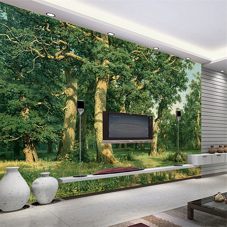Custom 3D stereoscopic large mural space living room sofa bedroom TV backdrop 3D wallpaper woods Nature 3d stereoscopic large mural custom wall paper the living room backdrop bedroom fabric wallpaper murals 3d visual fake window