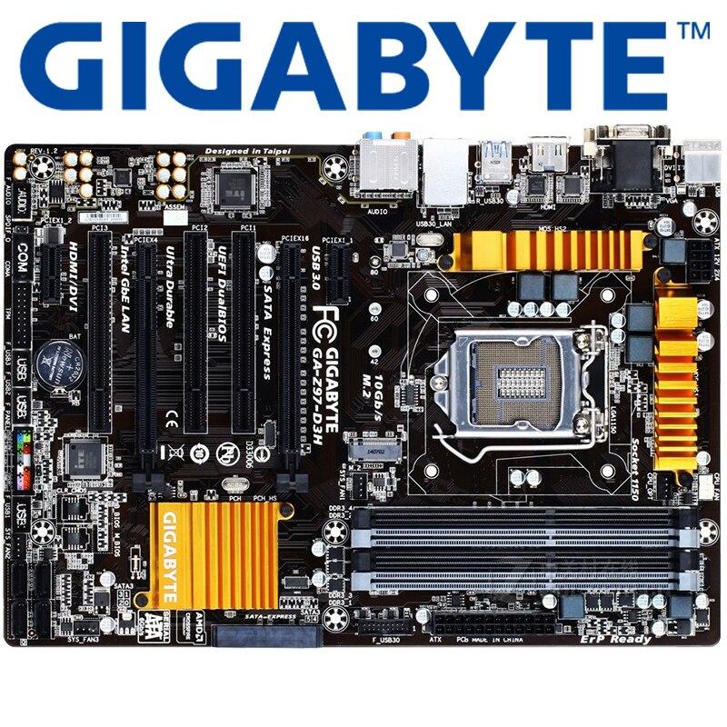 Lga 1150 Ddr3 Z97 Gigabyte Ga Z97 D3h 100 Original Placa Mãe Usb3 0 Z97 D3h Desktop Mainboard Sata3 Usado Placas Mães Aliexpress