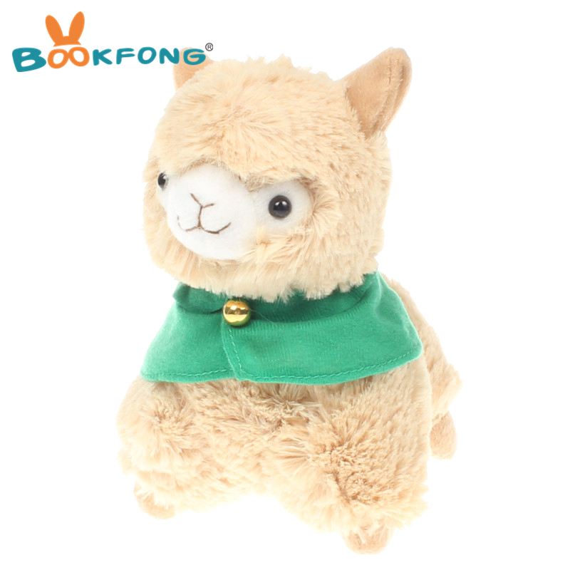 20cm Adorable Japanese Alpaca Stuffed Animal Sheep Baby Cuddle Plush Toys Doll for Kids Christmas Birthday Gifts kawaii alpaca vicugna pacos plush toy japanese soft plush alpacasso baby kids plush stuffed animals alpaca gifts