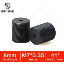BINYEAE Пинхол объектив для мини-камера видеонаблюдения Высокое разрешение объектива камеры наружного наблюдения с M7 * 0,35 8 мм объектив cctv