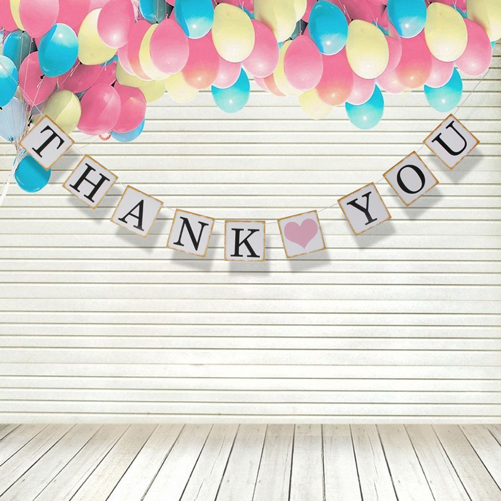 Hot 1 Set Wedding Party Buntings Banner Thank You Letters