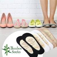5 шт./упак. женские нескользящие лоферы с низким вырезом без шоу носки-башмачки невидимая Лодыжка бамбуковые носки тапочки с закрытым носком
