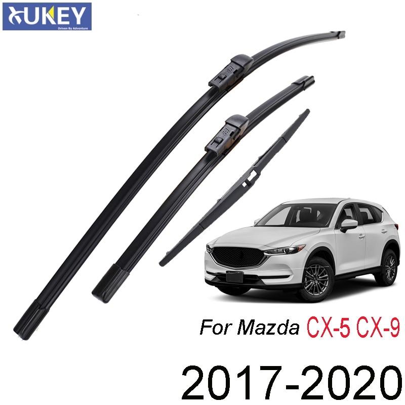 Xukey, переднее, заднее стекло, фотоэлемент для Mazda набор стеклоочистителей CX5 CX9 MK2 2020 2019 2018 2017 24