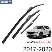 Xukey Dianteiro Traseiro Brisas Limpador Conjunto Kit Para Mazda CX-5 CX-9 CX5 CX9 MK2 2020 2019 2018 2017 24