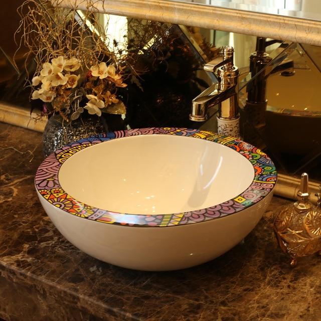 Lavello Ceramica Per Lavanderia.Jingdezhen Lavabo In Ceramica Lavabo In Ceramica Contatore Top