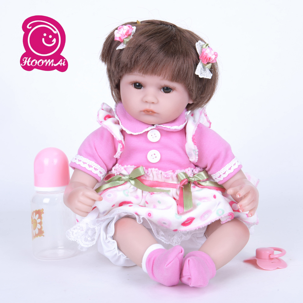 42cm Lifelike Reborn Baby Soft Silicone Vinyl Gentle Touch Doll Newborn Baby Princess Girl Type Doll Playmates Action Figure Toy42cm Lifelike Reborn Baby Soft Silicone Vinyl Gentle Touch Doll Newborn Baby Princess Girl Type Doll Playmates Action Figure Toy