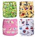 Pantalones de Esfínteres Prefold Pañal de Tela reutilizables Pañales Crecen con Los Bebés Pannolini Lavabili para 6.5-35 Libras