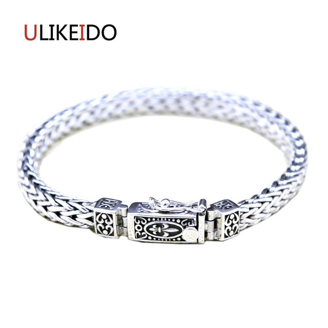 100 Pure 925 Sterling Silver Anchor Bracelets Fashion Clic Hand Chain For Men Special Insert