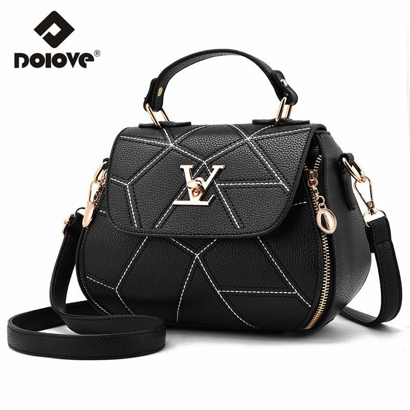 Aliexpress Dolove 2017 New Luxury Handbags Women Bags Designer Fashion Messenger Bag Metal Single Shoulder From Reliable