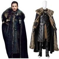 Получил 7 Игра престолов сезон 7 Косплэй Джон Сноу костюм наряд Косплэй костюм для взрослых Для мужчин Хэллоуин вечерние полный Наборы для у