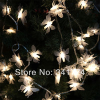 Novelty 5m 40 Battery Operated LED Pendant Butterfly Strings Christmas Fairy Wedding Luminaria Decorative Lights Lighting
