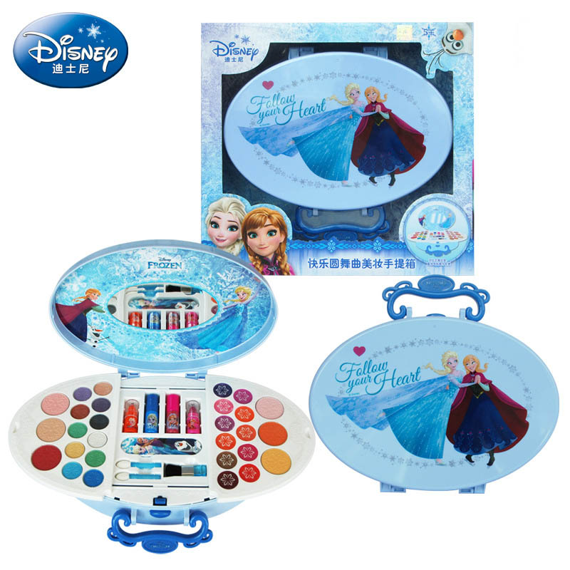 Disney Pretend Play Beauty  Fashion Toys Frozen Happy Waltz Makeup Suit House Birthday Gifts Child toys gift