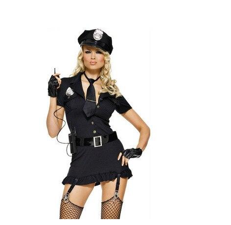 Novo Conjunto de Lingerie Sexy das Mulheres Da Meia Noite Encanto Sexy Lingerie Policial Uniform Cosplay Frete Grátis