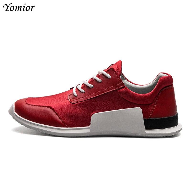 Noir Haute Mâle Mocassins Yomior blanc Hommes Casual Cuir Rouge Mode Respirant rouge En Espadrilles Qualité Adulte D'été Mesh De Appartements Nouveau Chaussures vqY4wHv