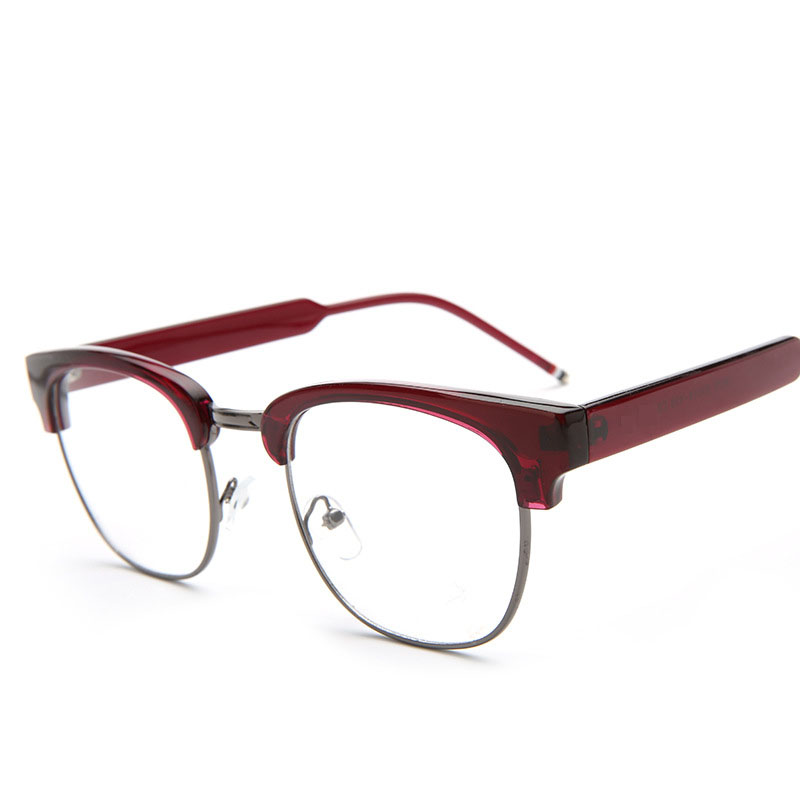 Baru Merek Desain kacamata Baru Kacamata Pria Wanita Lensa Cermin Polos  Anti Kelelahan Tahan Radiasi Kacamata f0055f73c7
