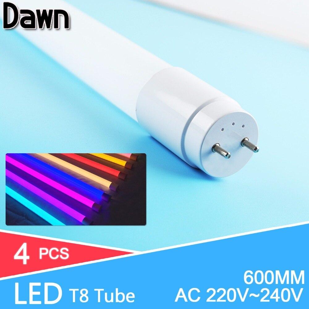 LED Tube T8 Light 4pcs/lot 60CM  10W 2835 SMD 220V 240V LED Fluorescent Tube LED T8 Tube Lamps Milky Cover Warm Cold White