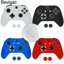 Bevigac Silicone Protective Sweat Case Cover Skin Shell for PS4/Xbox One S Slim X Controller with 2 Thumbsticks Stick Caps