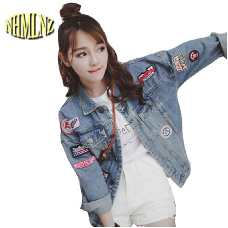 2019 New Fashion Women Harajuku Korean BF Jean   Jacket   Coat Spring Autumn Demin   Jacket   Female Casual Loose   Basic     Jacket   OK526