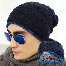 Gorro Unisex gorro de invierno gorra hombres mujeres medias sombrero rayas  punto Hiphop sombrero macho mujer caliente lana gorra. 009df369eb6