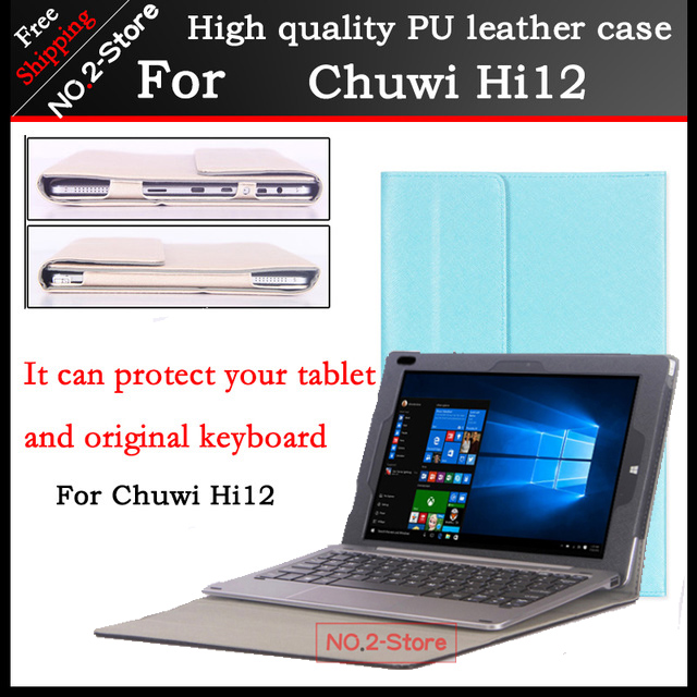 цена на Original Business stand Pu leather case For chuwi hi12 12 inch tablet PC,Fashion keyboard Protective sleeve For Chuwi Hi12