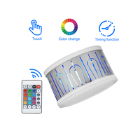 Wedding Wall Remote Control Decoration Round Safe Peacock Bedroom Modern Led Colorful Projection Lamp Changeable Iron