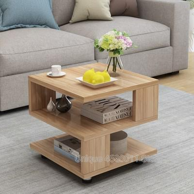 US $124.85 18% OFF Simple sofa side coffee table tempered glass mini tea  table living room creative square sofa table-in Coffee Tables from  Furniture ...