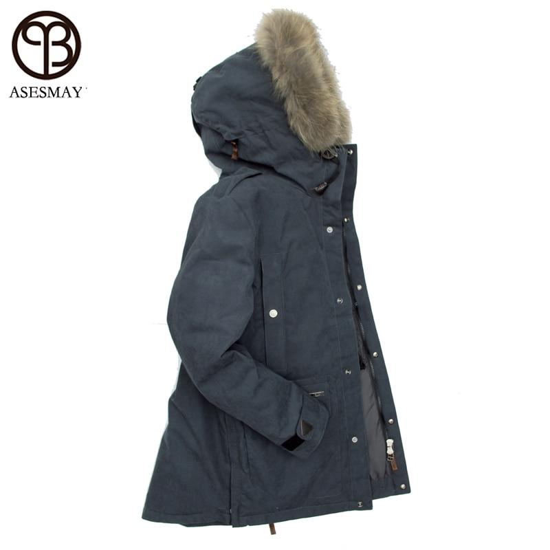 2018 новый стиль зимний мужской пуховик толстые теплые пальто 90% белый утиный пух парка брендовая одежда Высокое качество Гусь куртки