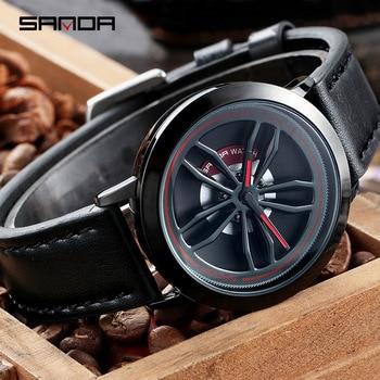 SANDA Men's Rotating Wheel Dial Fashion Quartz Watches 4