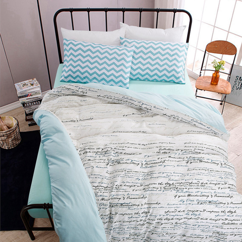 High count density cotton duvet covers set simple bedding for Minimalist bed sheets