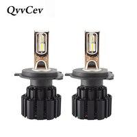 QvvCev P9 Auto Led H4 H7 LED Car Headlight 100W 13600LM 6000K H1 H11 9005 9006
