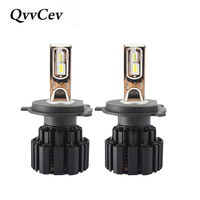 QvvCev P9 Auto Led H4 H7 LED Car Headlight 100W 13600LM 6000K H1 H11 9005 9006