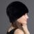 QiuMei Inverno Chapéu de Pele De Vison Natural das Mulheres do Sexo Feminino Tampão Ocasional Chapéu Chapelaria Para As Mulheres Gorros de pele Russa 100% Real Fur Beanie Hat